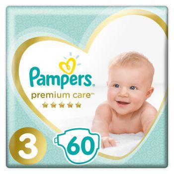 Pampers Premium Care Μέγεθος 3 (6-10 kg) 60 πάνες