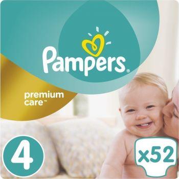 Pampers Premium Care Μέγεθος 4 (9-14 kg) 52 πάνες