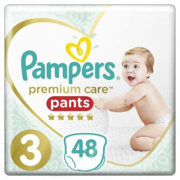 Pampers Premium Pants Μέγεθος 3 (6-11 kg) 48 πάνες