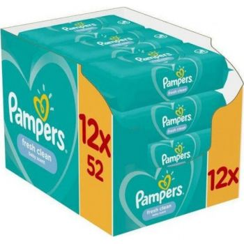 Pampers Wipes Fresh 12x52 τεμάχια