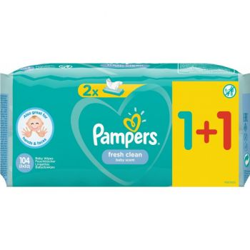 Pampers Wipes Fresh 2x52 τεμάχια