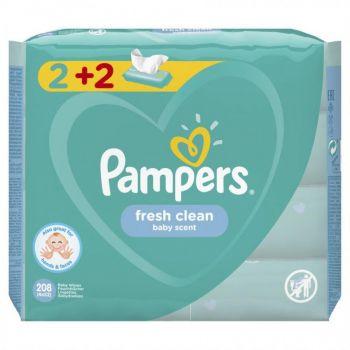 Pampers Wipes Fresh 4x52 τεμάχια