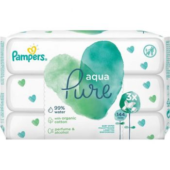 Pampers Wipes Pure 3x48 τεμάχια