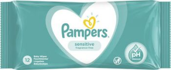 Pampers Wipes Sensitive 12 τεμάχια