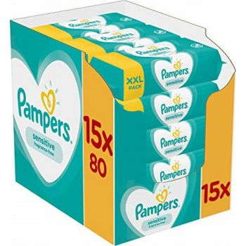 Pampers Wipes Sensitive 15x80 τεμάχια