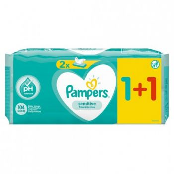 Pampers Wipes Sensitive 2x52 τεμάχια