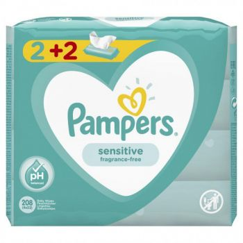 Pampers Wipes Sensitive 4x52 τεμάχια