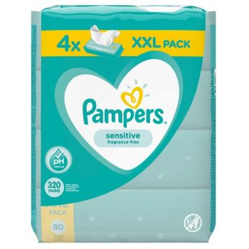 Pampers Wipes Sensitive 4x80 τεμάχια