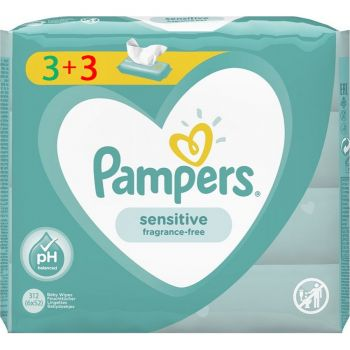 Pampers Wipes Sensitive 6x52 τεμάχια