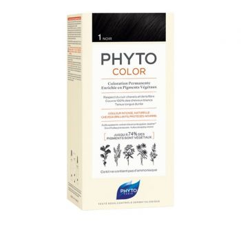Phyto Phytocolor 1 Noir Μόνιμη Βαφή Μαλλιών Χρώμα Μαυρο 1kit