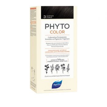 Phyto Phytocolor 3 Chatain Fonce Μόνιμη Βαφή Μαλλιών Χρώμα Καστανό Σκούρο 1kit