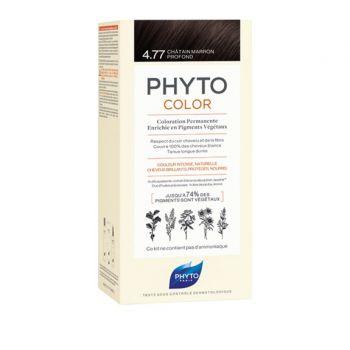 Phyto Phytocolor 4.77 Chatain Marron Prof Μόνιμη Βαφή Μαλλιών Χρώμα Καστανό Έντονο Μαρόν 1kit