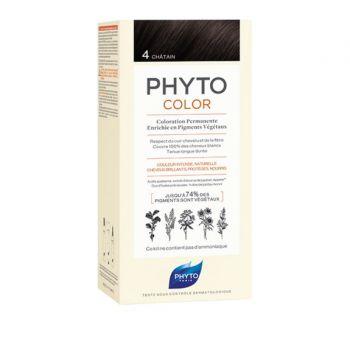 Phyto Phytocolor 4 Chatain Μόνιμη Βαφή Μαλλιών Χρώμα Καστανό 1kit