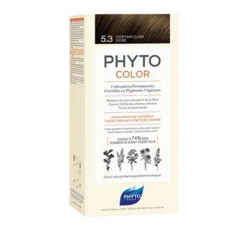 Phyto Phytocolor 5.3 Chatain Clair Dore Μόνιμη Βαφή Μαλλιών Χρώμα Καστανό Ανοιχτό Χρυσό 1kit