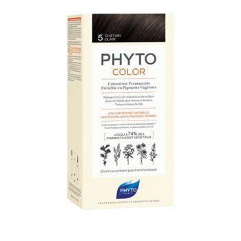 Phyto Phytocolor 5 Chatain Clair Μόνιμη Βαφή Μαλλιών Χρώμα Καστανό Ανοιχτό 1kit