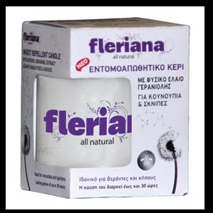 Power -Health- Fleriana- Εντομοαπωθητικό- Κερί- 130gr