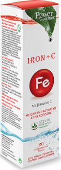 Power Health Iron + Vitamin C With Stevia 20 αναβράζοντα δισκία Unflavoured