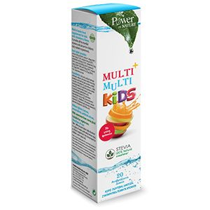 Power Health Multi+Multi Kids Με Στέβια 20s Aναβράζον