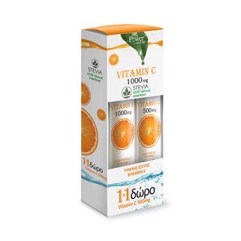 Power Health Vitamin C 1000 mg 24s Stenia Αναβράζον + Vitamin C 500mg 20s Αναβράζον