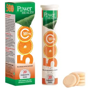 Power Health Vitamin C 500mg 20s Αναβράζον
