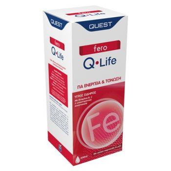 Quest Fero Q Life Υγρός Σίδηρος Πορτοκάλι & Μέλι 200ml