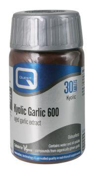 Quest kyolic garlic 600mg aged garlic extract 30tabs