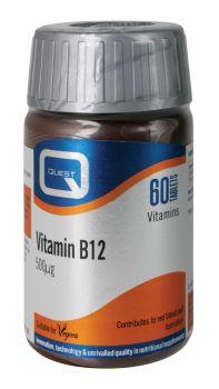 Quest Vitamin B12 500mcg 60tabs