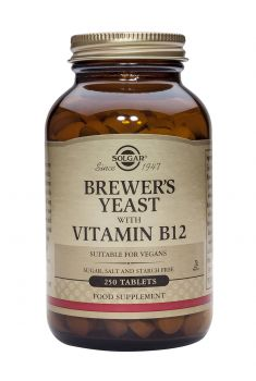 Solgar Brewer's Yeast with Vitamin B12 250tabs