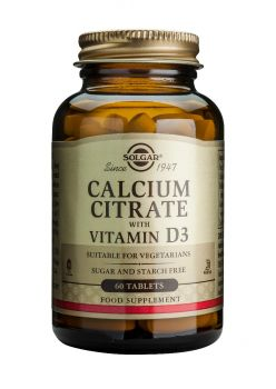 Solgar  Calcium Citrate with Vitamin D3 tabs 60s