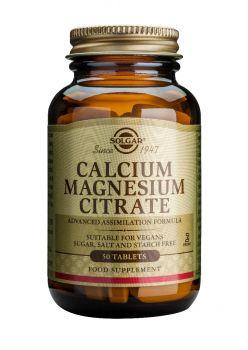 Solgar  Calcium Magnesium Citrate tabs 50s