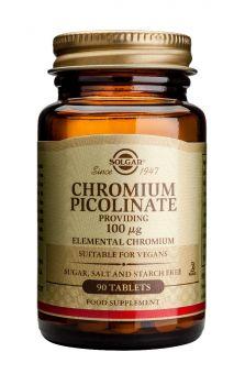 Solgar Chromium Picolinate 100mcg 90tabs