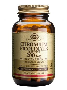 Solgar Chromium Picolinate 200mcg 90tabs