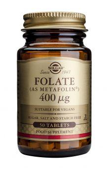 Solgar Folate as Metafolin 400mcg 50tabs