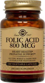 Solgar Folic Acid 800μg 100 Tabs