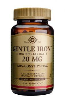 Solgar Gentle Iron 20mg Veg.caps 180s