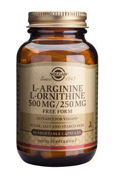 Solgar L-Arginine L-Ornithine 500mg250mg 50caps