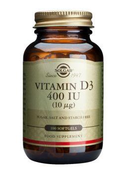 Solgar Vitamin D3 400IU softgels 100s