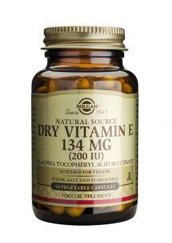 Solgar  Vitamin E Dry 200IU caps 50s