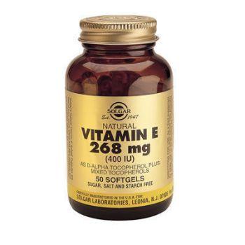 Solgar Vitamin E Natural 400 IU softgels 50s