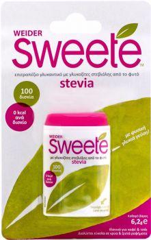 Sweete-Υποκατάστατο-Ζάχαρης-Με-Στέβια-Dispenser-100Tabs