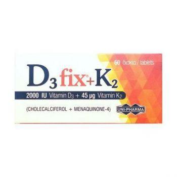 Uni-Pharma D3 FIX (2000IU) & K2 (45 mcg) 60tabs