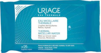 Uriage Thermal Micellar Water Make-Up Remover Wipes 25τμχ