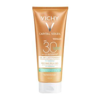Vichy Capital Soleil Wet Skin, Έξτρα Απαλό Αντηλιακό Γαλάκτωμα -Gel για Πρόσωπο/Σώμα SPF30 200ml