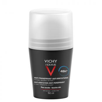 Vichy Homme 48h Deodorant Roll-on for Sensitive Skin Αποσμητικό κατά του Ιδρώτα 50ml