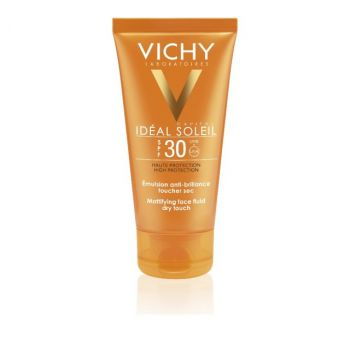 Vichy Ideal Soleil Mattifying Face Fluid Dry Touch SPF30 Ματ Αποτέλεσμα, Λιπαρή/Μικτή Επιδερμίδα 50ml