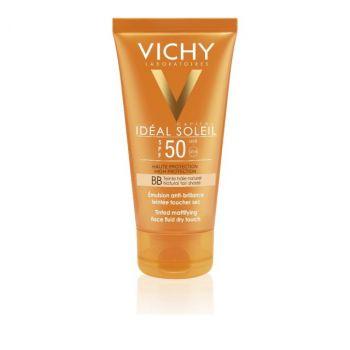 Vichy Ideal Soleil Tinted Dry Touch BB , Αντηλιακή Κρέμα Προσώπου με Χρώμα και Ματ Αποτέλεσμα SPF50 50ml