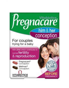 Vitabiotics Pregnacare His & Her Conception 60 tab