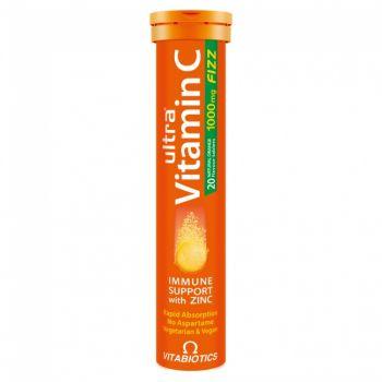 Vitabiotics Ultra Vitamin C 1000mg 20 αναβράζοντα δισκία Πορτοκάλι