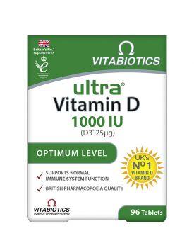Vitabiotics Ultra Vitamin D 3 1000Iu 25mg 96Tabs